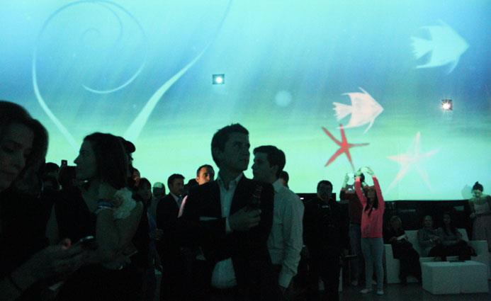 360º projection sonny Xperia event